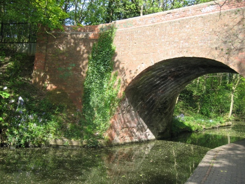 Historic Vineries Bridge over the Grand Union Canal in Acock's Green.  Photograph from Acock's Green Neighbourhood Forum.