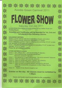 Flower Show Entries