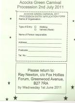 Procession Entry Application
