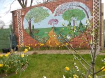 Our little orchard trees blossoming