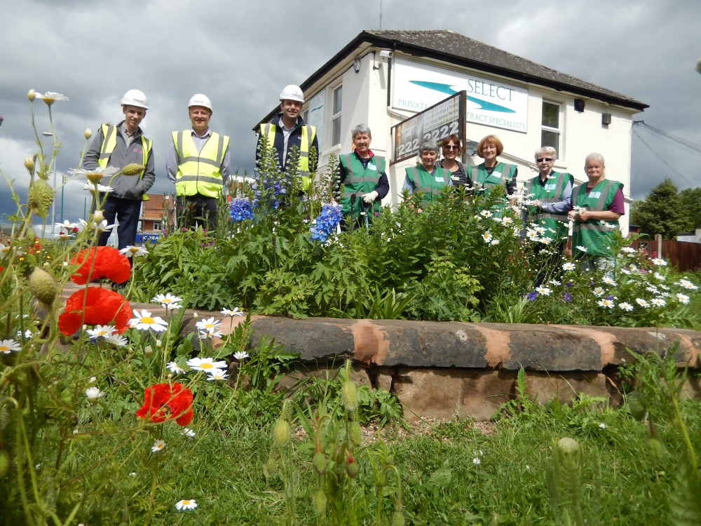 Village in Bloom team working in conjunction with Fitzgeralds Contractors