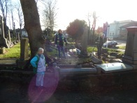 Autumn planting and tidying St Marys Churchyard