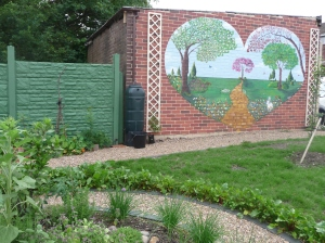 The beautiful mural by local artist Hannah Brown