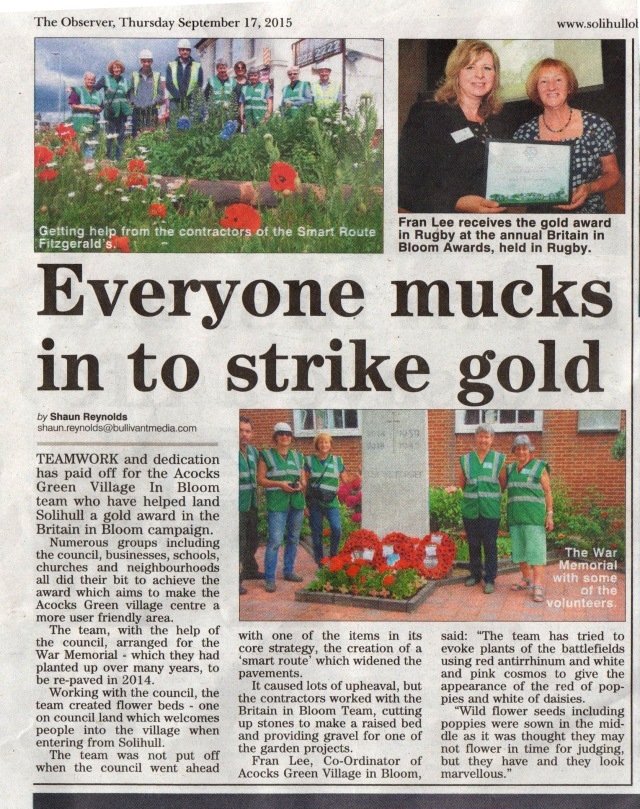 Solihull Observer - note the glaring error?