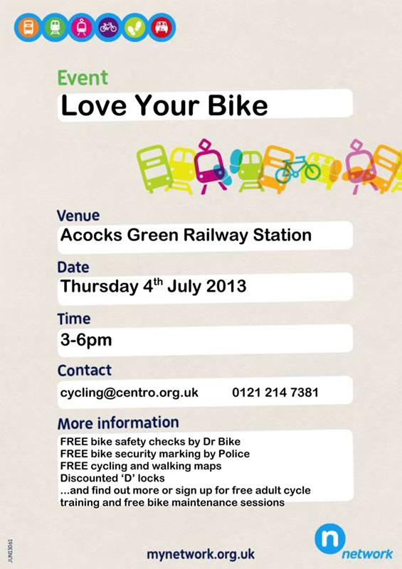 Dr Bike in Acocks Green this Thursday