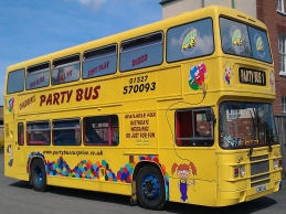 Free Party Bus between 12 noon and 2pm