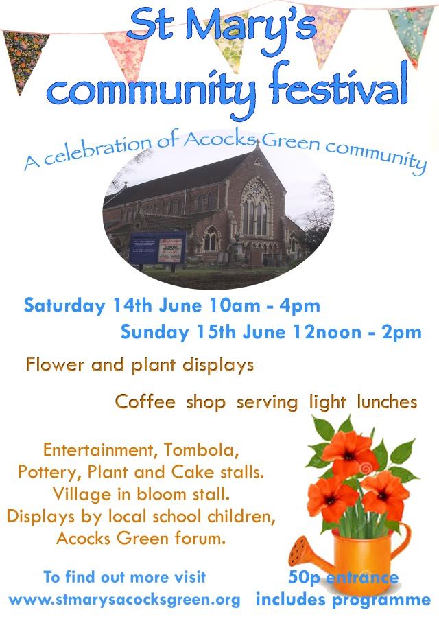 St Mary's community festival poster