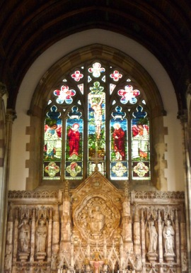 The Burne Jones Stained Glass Window.