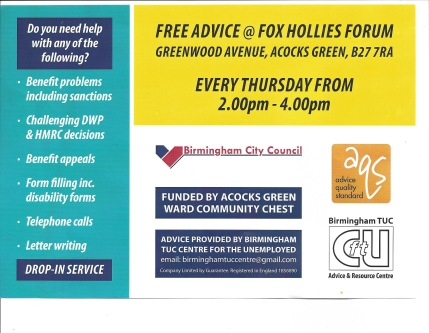 Fox Hollies Forum Free Advice with benefit & form filling