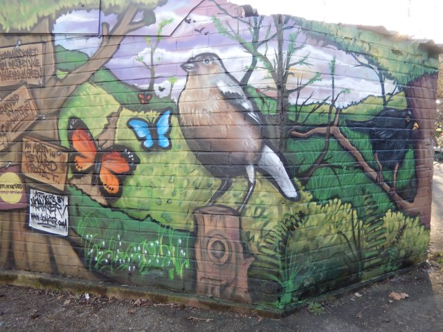 Mural by local artist Hoakser, Westley Vale Millennium Green
