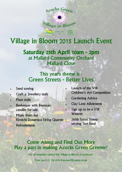 Village Bloom Launch 2015