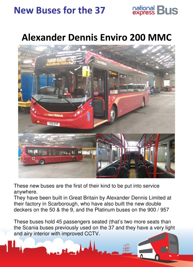 New buses in Acocks Green arriving this month.
