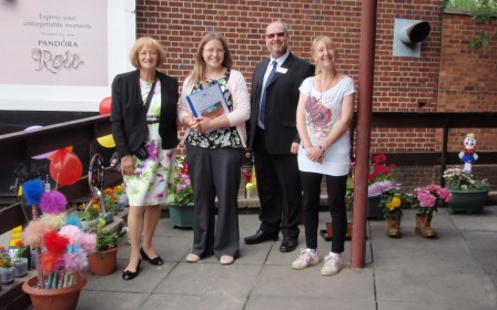 Hazel from Swan Trio with the Judges, 8th July