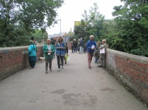 Gathering on Vineries Bridge for the Guided Walks