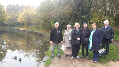Cottesbrooke Walking Group next to Oak Meadow and the Grand Union. November 15
