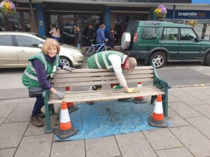preparing benches