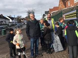 Acocks Green and councillors dealing with litter on Westley Road