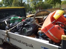 The haul of rubbish