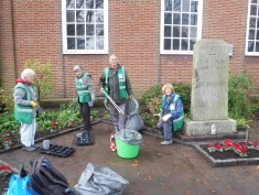 Tidying war memorial
