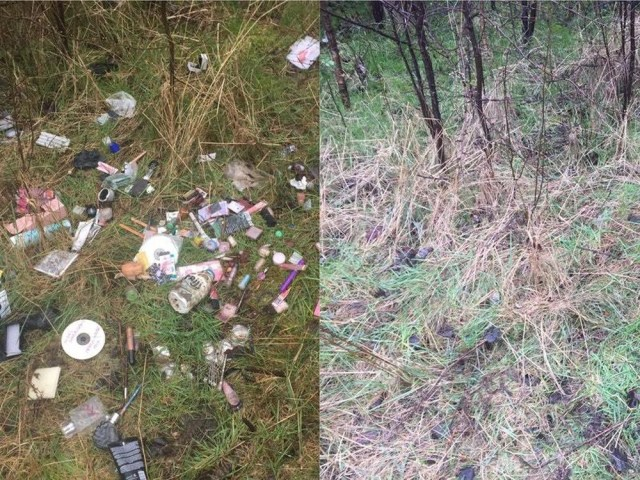 before after litter