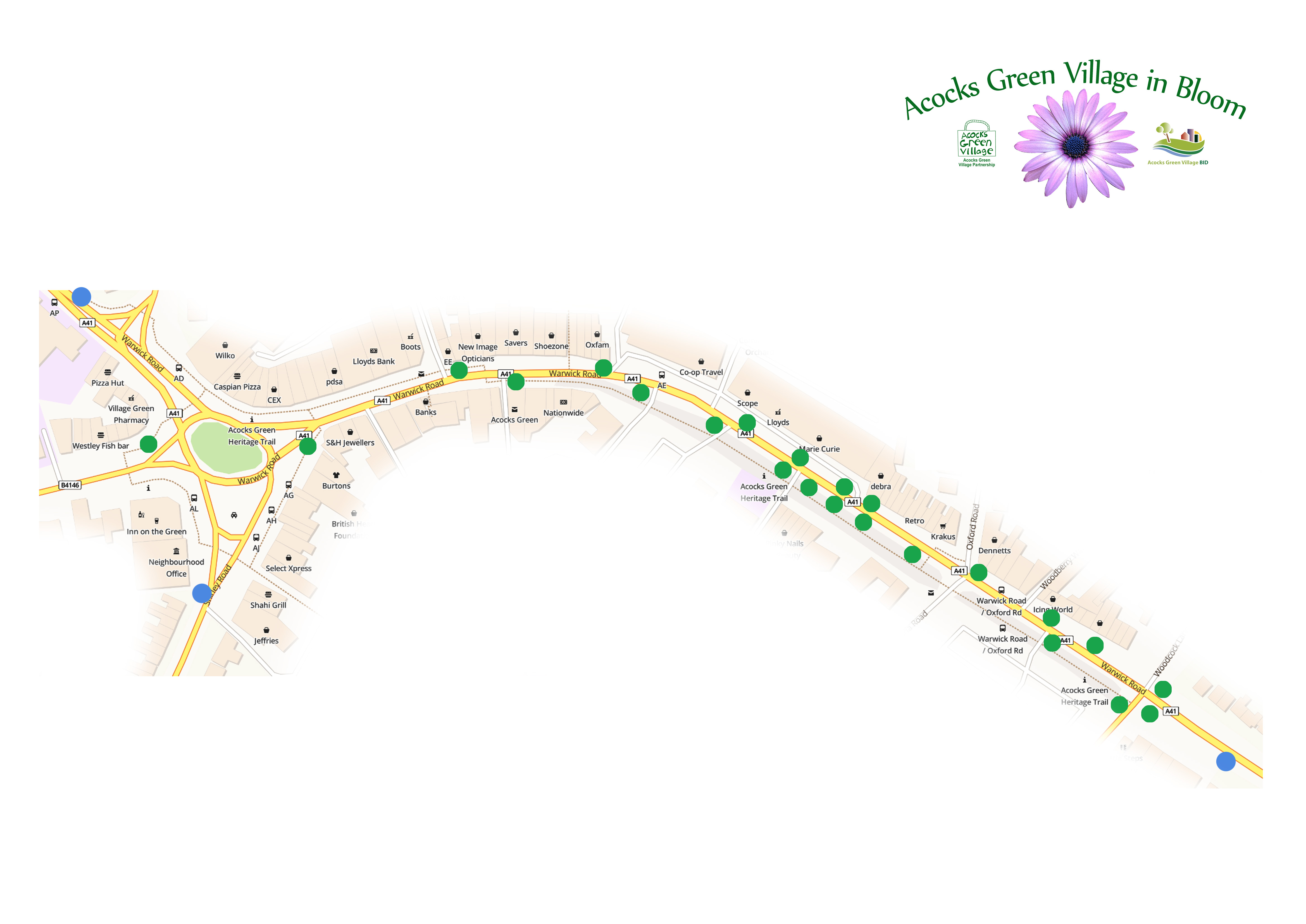 Map of Planters in Acocks Green